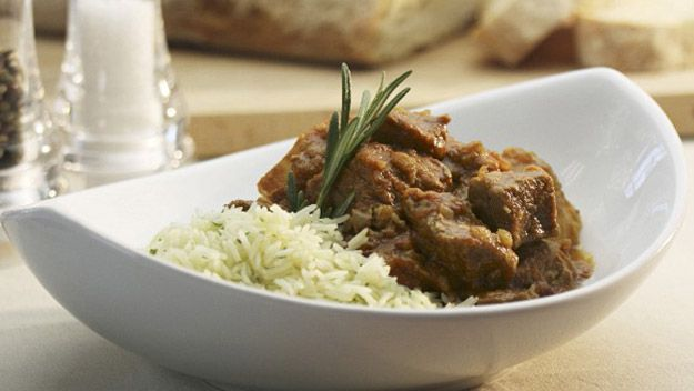 Oxtail ragout with rice