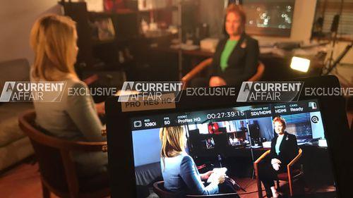 Senator Hanson speaks with Leila McKinnon. (A Current Affair)