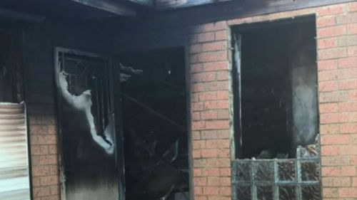 The scorched home this morning. (9NEWS)