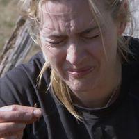 Kate Winslet's shock reaction to eating a worm