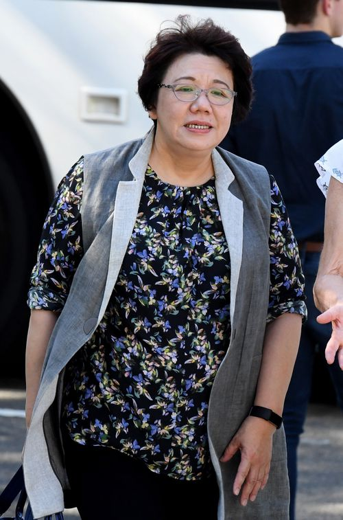 Selina Cheng arrives at a Supreme Court hearing in Parramatta yesterday. (AAP)
