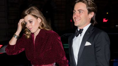 Princess Beatrice and Edoardo at a black-tie event