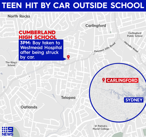 A teenage boy has been hit by a car in Carlingford