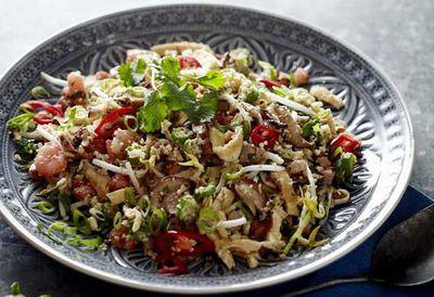 """Recipe: <a href=""""https://kitchen.nine.com.au/2016/05/20/11/08/cauliflower-fried-rice"""" target=""""_top"""">Cauliflower fried rice</a>"""
