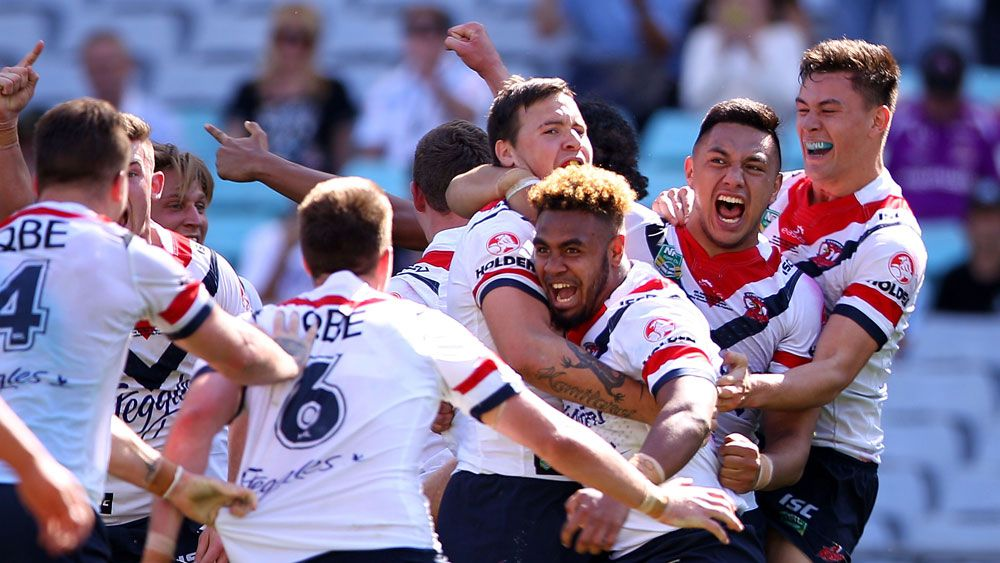 Roosters under 20's winning grand final team.(Getty)