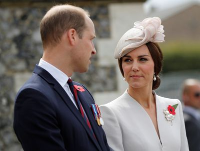 Prince William and Kate at ceremony.