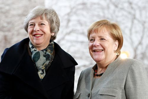 Brithsh PM Theresa May and German Chancellor Angela Merkel meet in mid-December. Both have seen their power severely undermined in 2018.