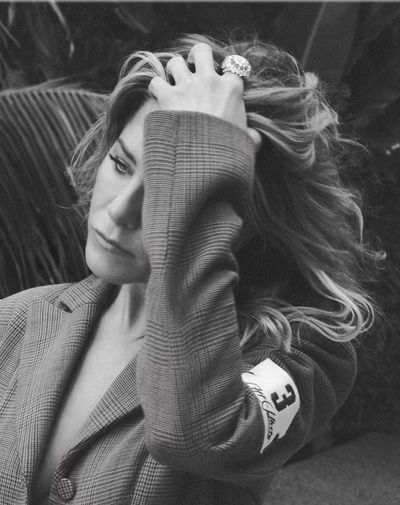 <p>Jennifer Aniston forUS <em>InStyle,</em> September 2018</p> <p>The actress wearsOff-White bodysuit and Harry Winston ring.</p>