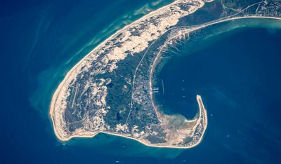 The northern tip of Cape Cod, in the US state of Massachusetts. Image taken June 13.