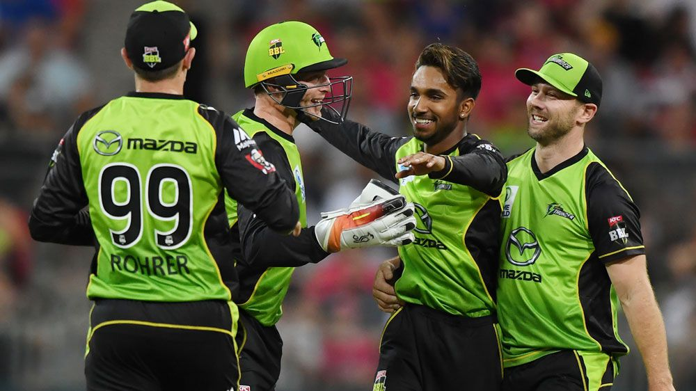BBL results: Sydney Thunder defeat Hobart Hurricanes with spinners starring