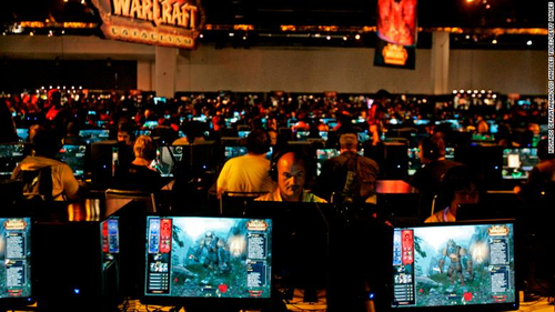 A 'World of Warcraft' game area at BlizzCon in 2009