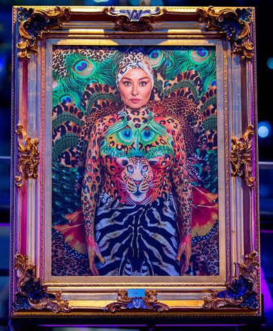 Camilla's artwork was auctioned off on Celebrity Apprentice Australia.