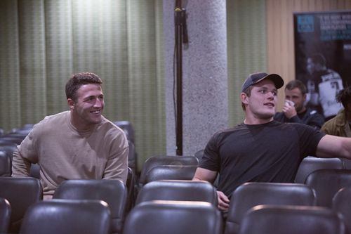 Burgess brothers Sam and Tom at the meeting. (AAP)