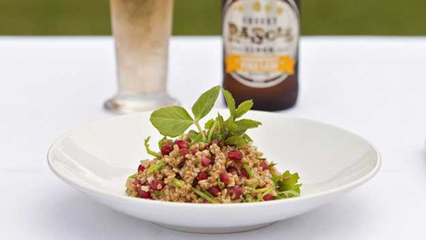 Farro and Pomegranate Summer Salad