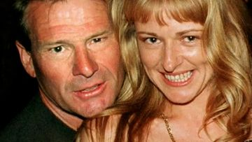 Sam Newman and his wife Amanda Brown.