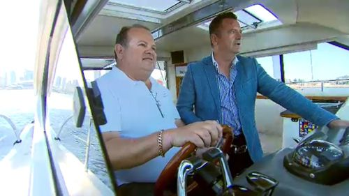 Trevor White (left) is a fan of the boat-sharing idea. (9NEWS)