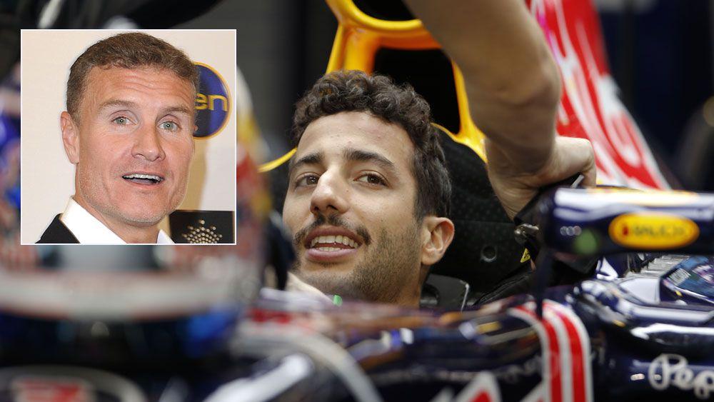 Daniel Ricciardo and (inset) David Coulthard. (AAP)