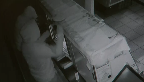 The robbers were selective about the flavours of cheesecakes they stole. (9News)