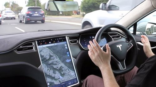 "The update will improve the ""full self-driving features"" of certain Tesla models. Picture: Supplied"