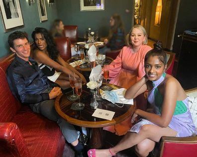 Jonathan Bailey, Nicola Coughlan, Simone Ashley, Charithra Chandran