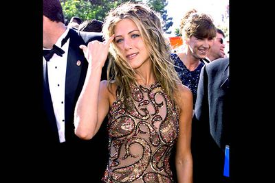 <b>Where she wore it:</b> The 51st Annual Primetime Emmy Awards, 1999.<br/><br/><b>The look:</b> The '90s were all about The Rachel, so Jen retaliated with... dreadlocks?