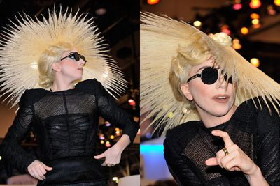 Gaga does her best fan impersonation, but we're so not blown away.
