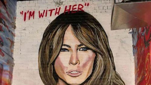 Lushsux's artwork of Melania Trump. (Facebook)