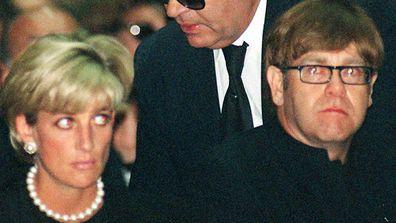 Princess Diana and Elton John in 1997.