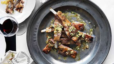 "Recipe:&nbsp;<a href=""http://kitchen.nine.com.au/2016/05/16/16/38/lamb-ribs-with-garlic-lemon-and-thyme"" target=""_top"">Lamb ribs with garlic, lemon and thyme<br /> </a>"
