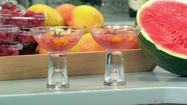 Seasonal fruit consomme