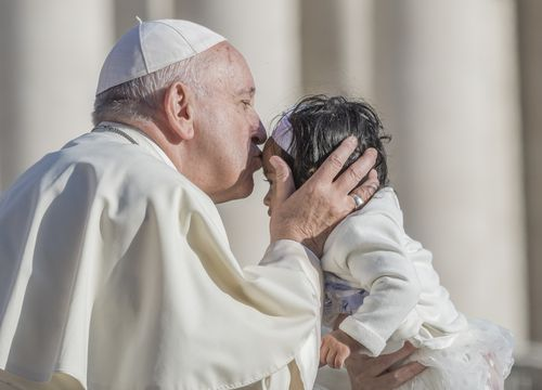 The Pope asked if it was right to do away with a human life to 'solve a problem'.
