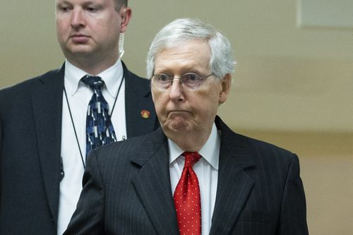 While Senate Majority Leader Mitch McConnell stayed silent throughout the day, other Republicans easily defended the president .