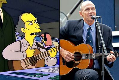 """<B>Appeared in:</B> 'Deep Space Homer', 1994. The folk singer played himself in the episode, offering some not-so-soothing tunes to calm Homer and his fellow astronauts when their space mission went disastrously wrong.<br/><br/><B>Best line:</B> [Singing] """"'Sweet dreams and flying machines/In pieces on the ground' — oops. 'Sweet dreams, and flying machines/Flying safely through the air...'"""""""