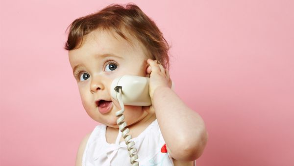 Hello mama: talk, listen and play with your child to get them talking sooner. Image: Getty