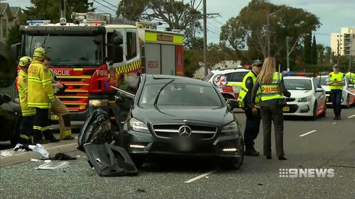 The driver of the Mercedes is in a critical condition at St George Hospital.