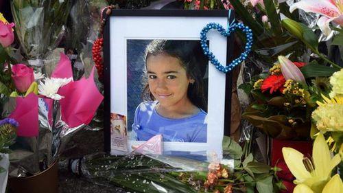 A memorial for the schoolgirl. (AAP)