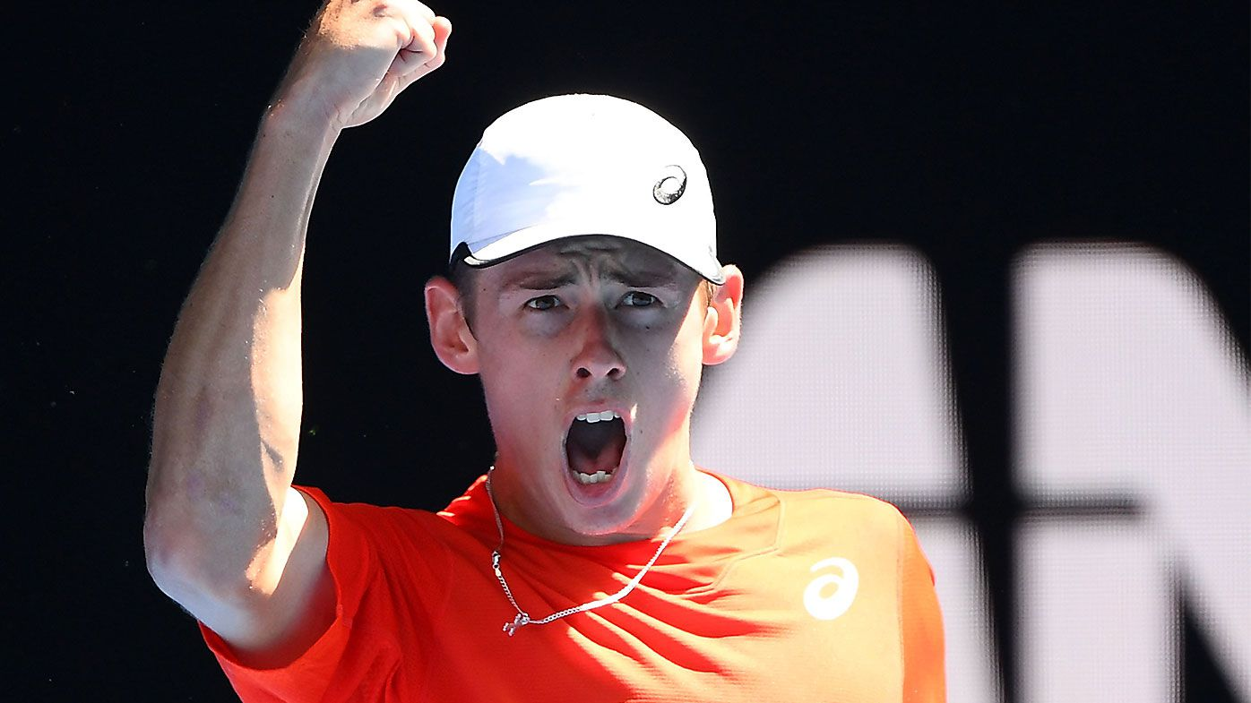 Alex de Minaur cruises into Australian Open second round after victory over Pedro Sousa
