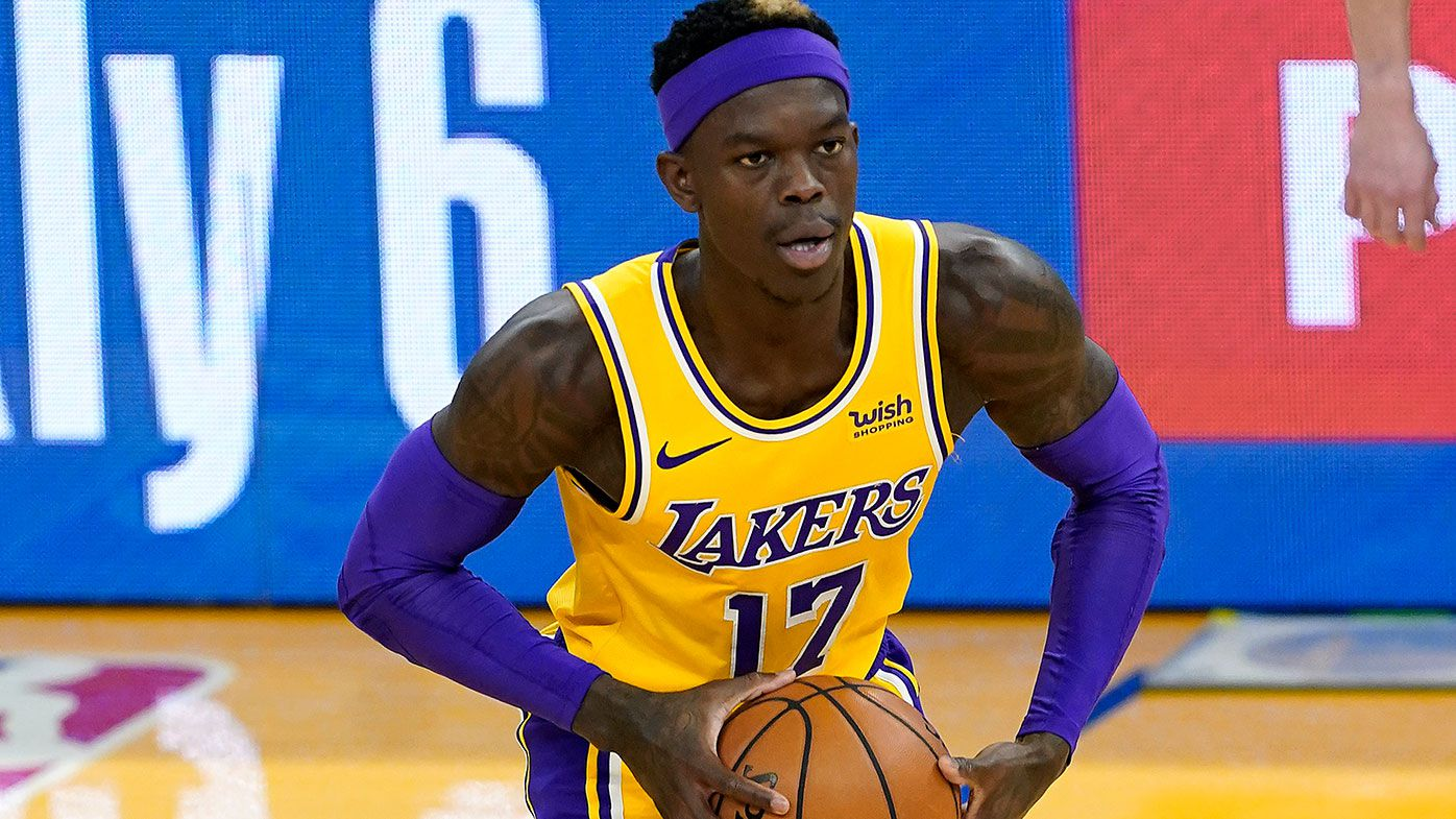 Dennis Schroder in action for the Lakers