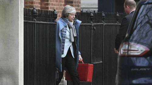 Prime Minister Theresa May in Downing Street, London.