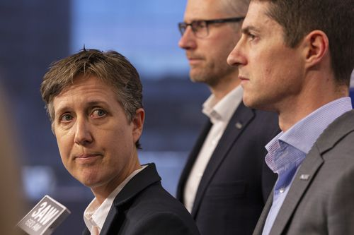 ACTU secretary Sally McManus speaks to the media during a press conference at the ACTU building in Melbourne, Thursday, June 13, 2019.