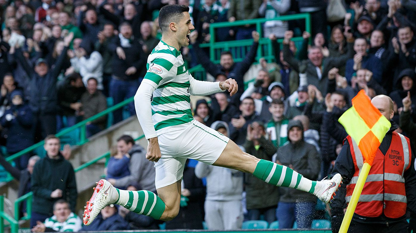 Socceroos Tom Rogic and new recruit Martin Boyle scores in Scottish league showdown between Celtic and Hibernian