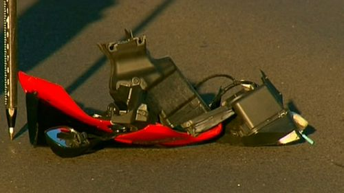 Melbourne motorcyclist dies after crashing into fire truck