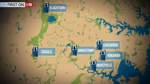 Some suburbs have consistently lower petrol prices. (9NEWS)