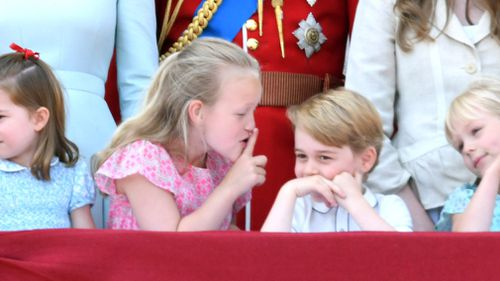 """Shush, Prince George!"" Picture: Getty"