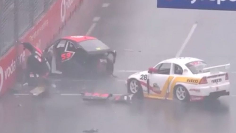 High speed crash in Aussie Racing Cars on the Gold Coast