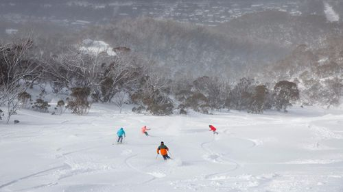 The fresh snow at Threbo has delighted skiers and snowboarders keen to hit the mountain. (Thredbo)