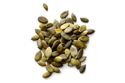 Pumpkin seeds: 7.8mg per 100g