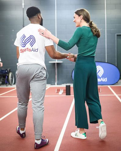 Kate gets sporty with budding athletes at SportsAid event in London