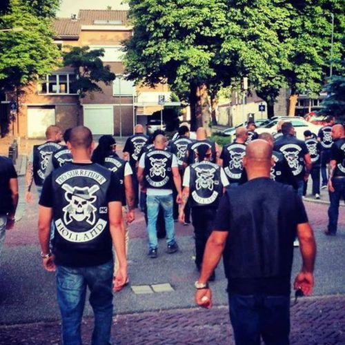 Members of the Amsterdam chapter of the No Surrender motorcycle club. (Facebook)