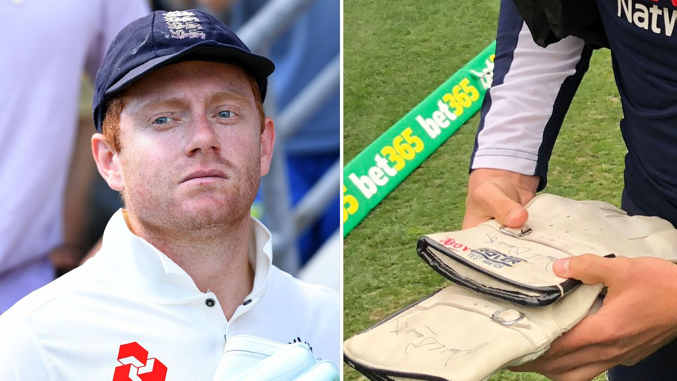 Ashes cricket: Jonny Bairstow given touching gift by fan, gloves signed by late father David